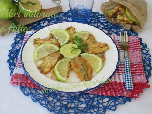 Alici indorate e fritte, ricetta napoletana