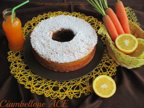 Ciambellone ACE (arancia e carote)