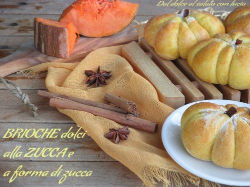 Brioche dolci alla zucca (a forma di zucca)