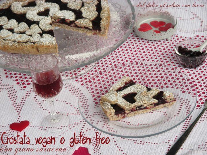 Crostata vegan e gluten free con farina di grano saraceno