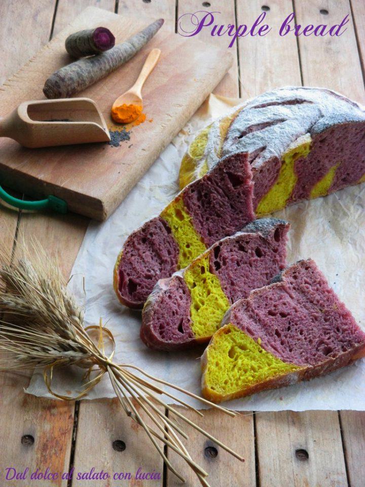 Purple bread con lievito madre