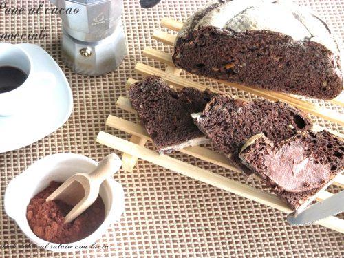 Pane al cacao e nocciole con lievito madre