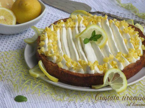 Crostata tiramisù al limone
