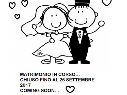 Chiuso (momentaneamente) per matrimonio… Mi sposo!