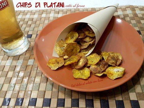 Chips di platano al forno