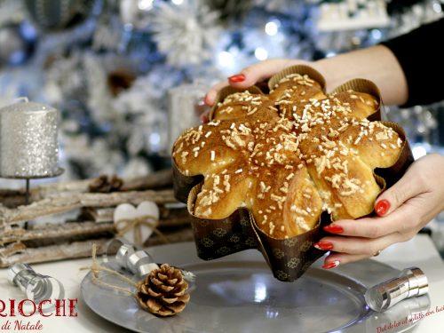 Brioche stella di Natale con sciroppo di risulta della canditura