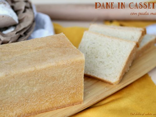 Pane in cassetta con pasta madre