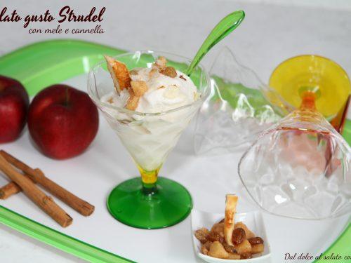 Gelato gusto Strudel con mele e cannella