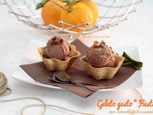 """Gelato gusto """"Fiesta"""", con arancia e cioccolato"""