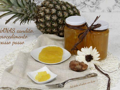 Ananas candito, procedimento passo passo