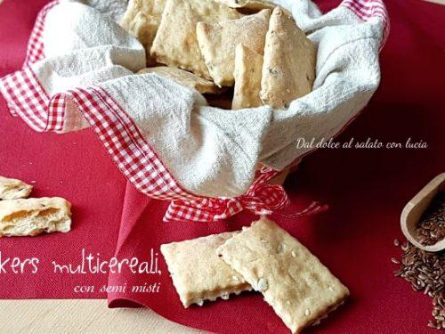 Crackers multicereali con semi misti, con esubero