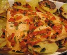 Salmone in letto di patate