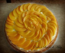 Torta con Crema Pasticcera e Pesche