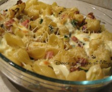 Pasticcio di pasta con zucchine e prosciutto