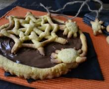 Crostata con nutella per Halloween
