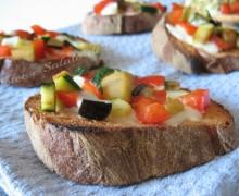 Crostini alle verdure