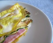 Omelette con zucchine e prosciutto