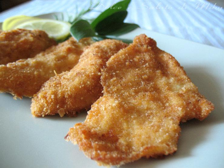 Cotolette di pollo impanate