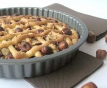 Crostata con nutella e nocciole