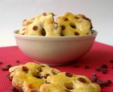 Biscotti con gocce ai frutti di bosco