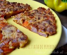 Frittata di peperoni e salsiccia