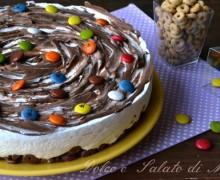 Torta fredda crema e cioccolato