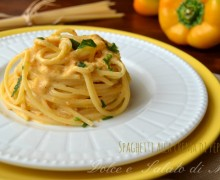 Spaghetti alla crema di peperoni