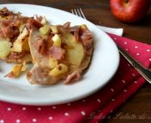 Lonza con speck e mele