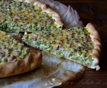 Torta salata di piselli e pancetta