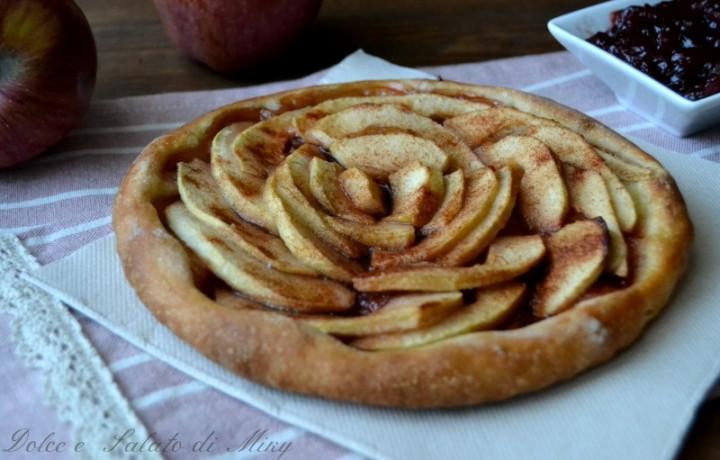 Pizza con le mele