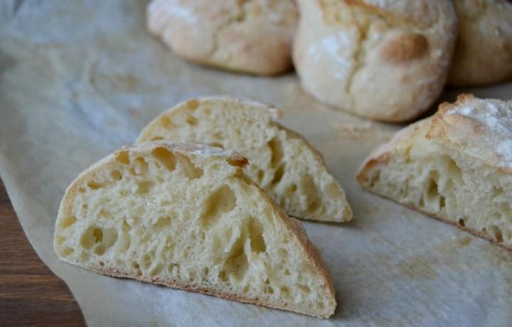 Pane senza impasto con lievito di birra