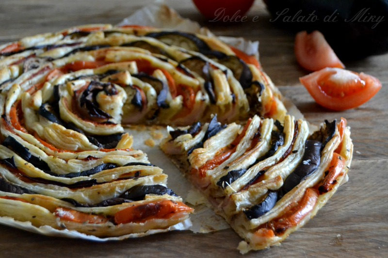 ricetta torta spirale di melanzane e pomodori  Dolce e Salato di Miky