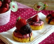 Pasticcini gelato con le fragole