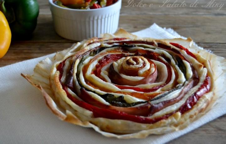 Torta spirale di peperoni