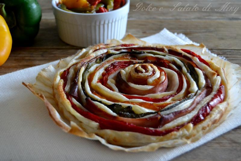 Super Torta spirale di peperoni | Dolce e Salato di Miky OI98