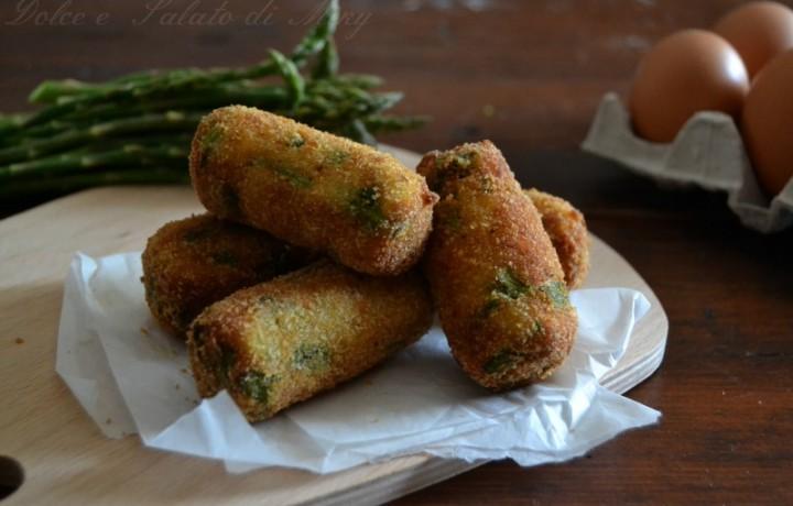 Crocchette di asparagi e patate