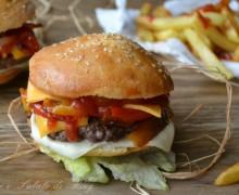Cheeseburger con peperoni