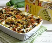 Lasagne con pesto e zucchine