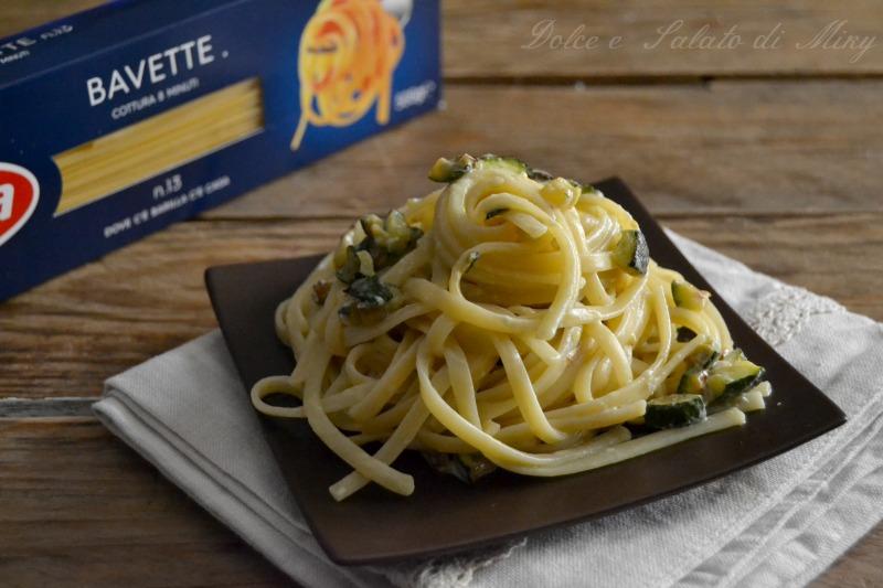 ricetta bavette con zucchine e gorgonzola| Dolce e Salato di Miky