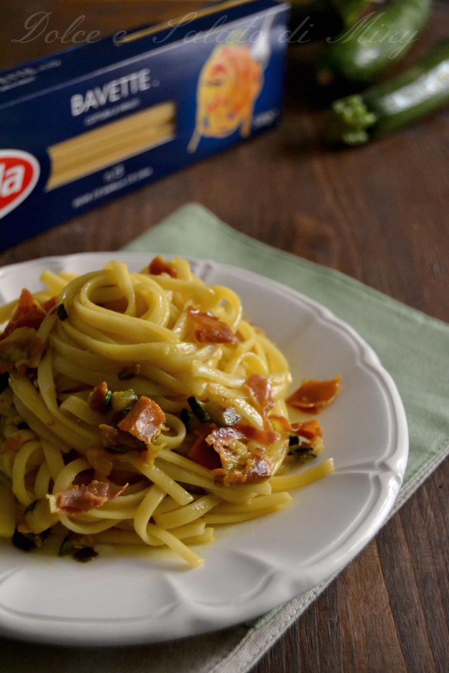 ricetta bavette zafferano speck e zucchine| Dolce e Salato di Miky