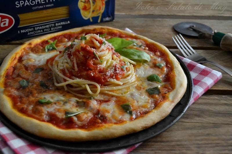 ricetta pizza con spaghetti e mozzarella di bufala| Dolce e Salato di Miky