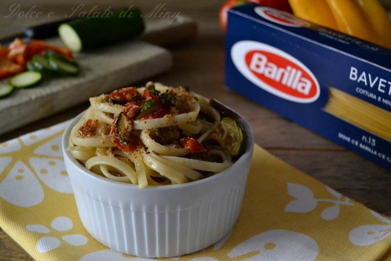 ricetta bavette con crumble di verdure  Dolce e Salato di Miky