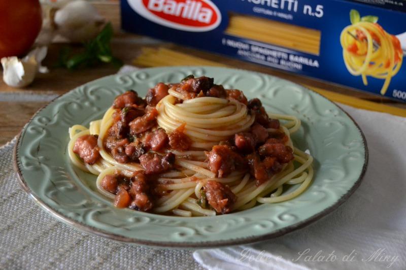 ricetta spaghetti al ragù di polpo| Dolce e Salato di Miky