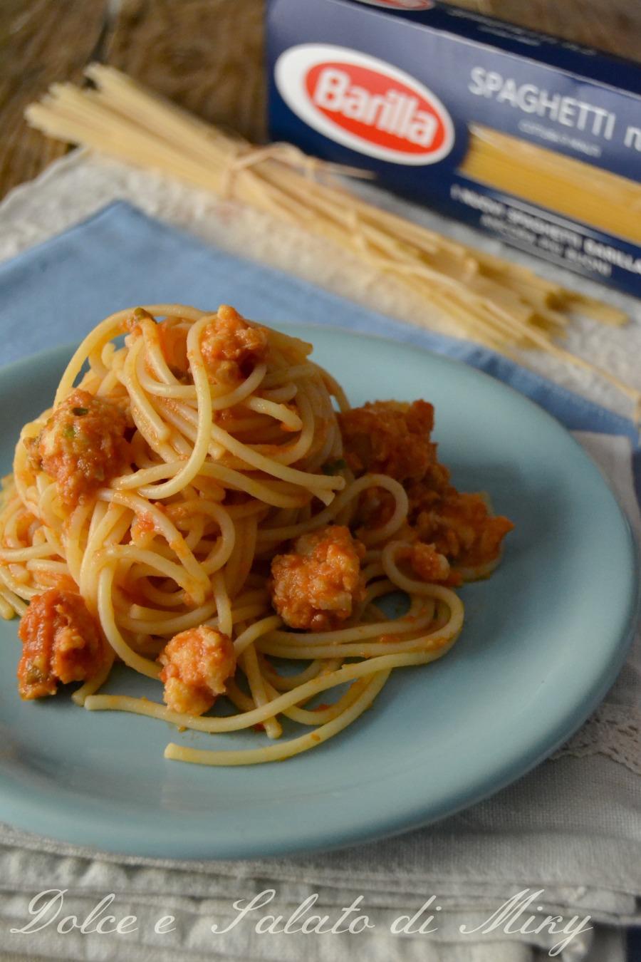 ricetta spaghetti con polpettine di pesce| Dolce e Salato di Miky