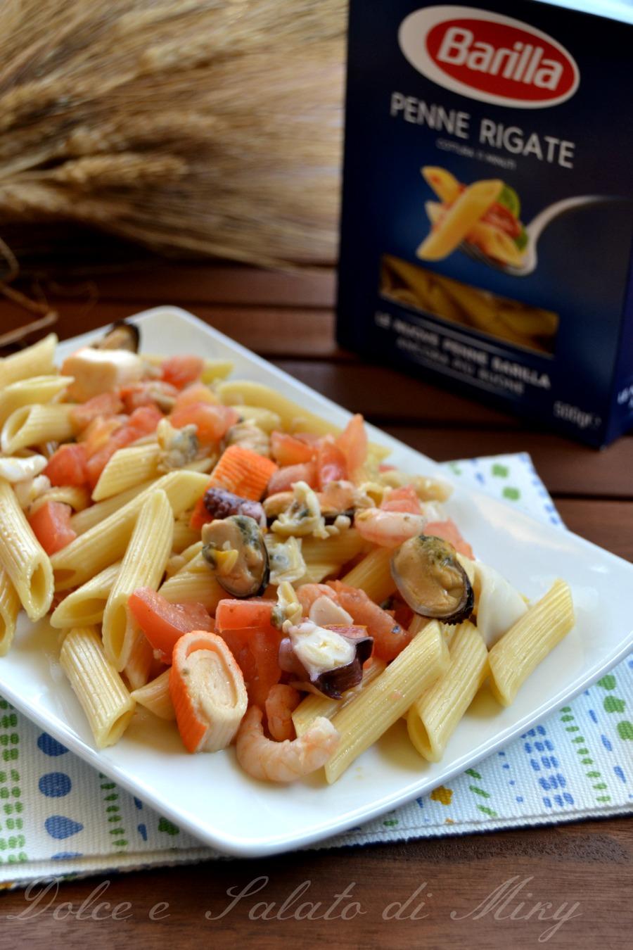 ricetta penne fredde ai frutti di mare| Dolce e Salato di Miky
