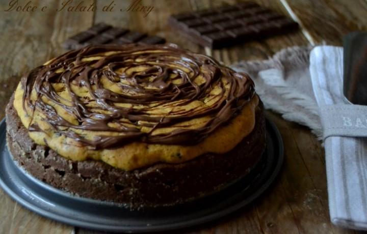 Torta farcita bicolore