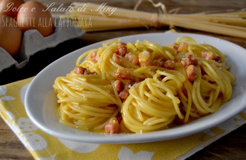 ricetta spaghetti alla carbonara| Dolce e Salato di MIky