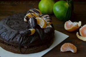 Torta cioccolato e mandarini