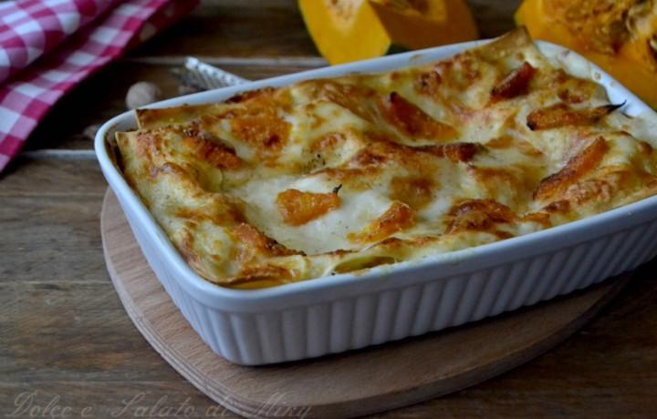 Lasagne con zucca e gorgonzola