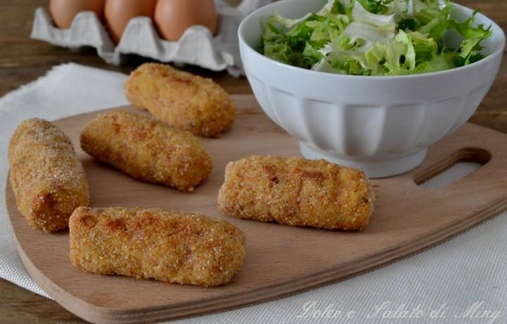 Crocchette di pollo e prosciutto